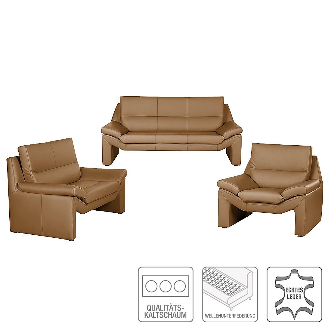 polstergarnitur longford 3 2 1 echtleder cognac nuovoform g nstig. Black Bedroom Furniture Sets. Home Design Ideas