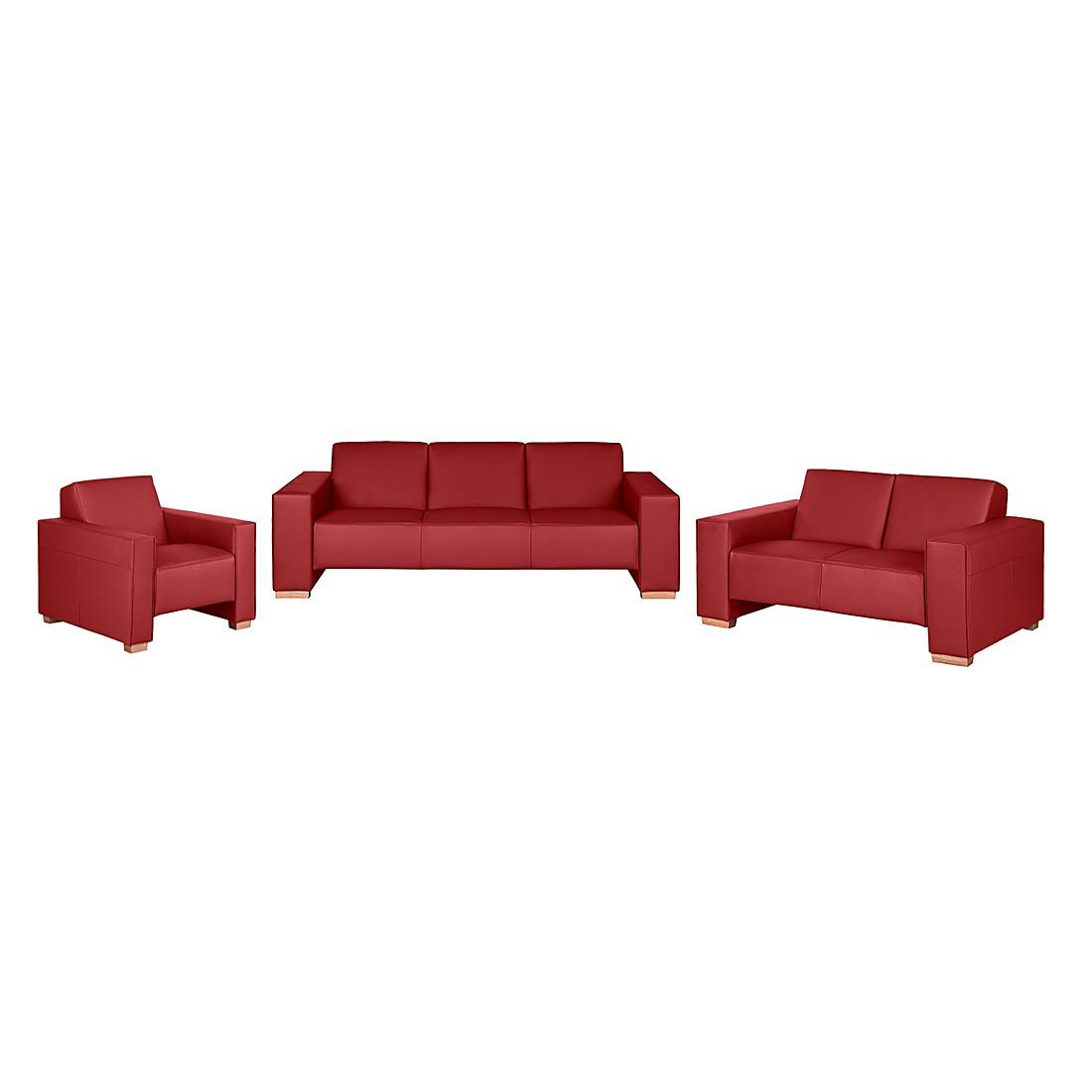 polstergarnitur midar 3 2 1 echtleder rot roomscape bestellen. Black Bedroom Furniture Sets. Home Design Ideas
