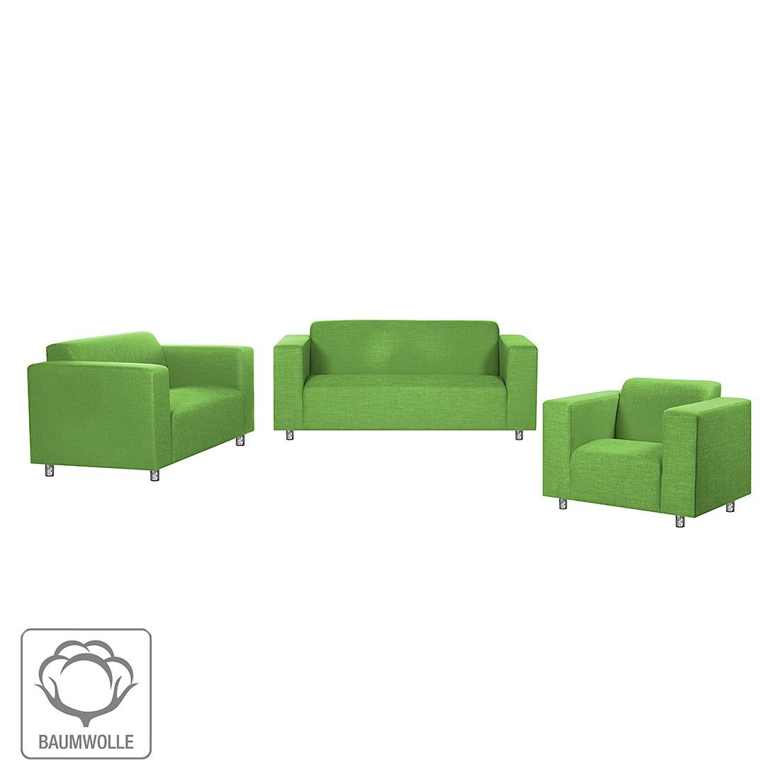 Polstergarnitur Oslo (3-2-1) – Baumwollstoff Grün, roomscape jetzt bestellen