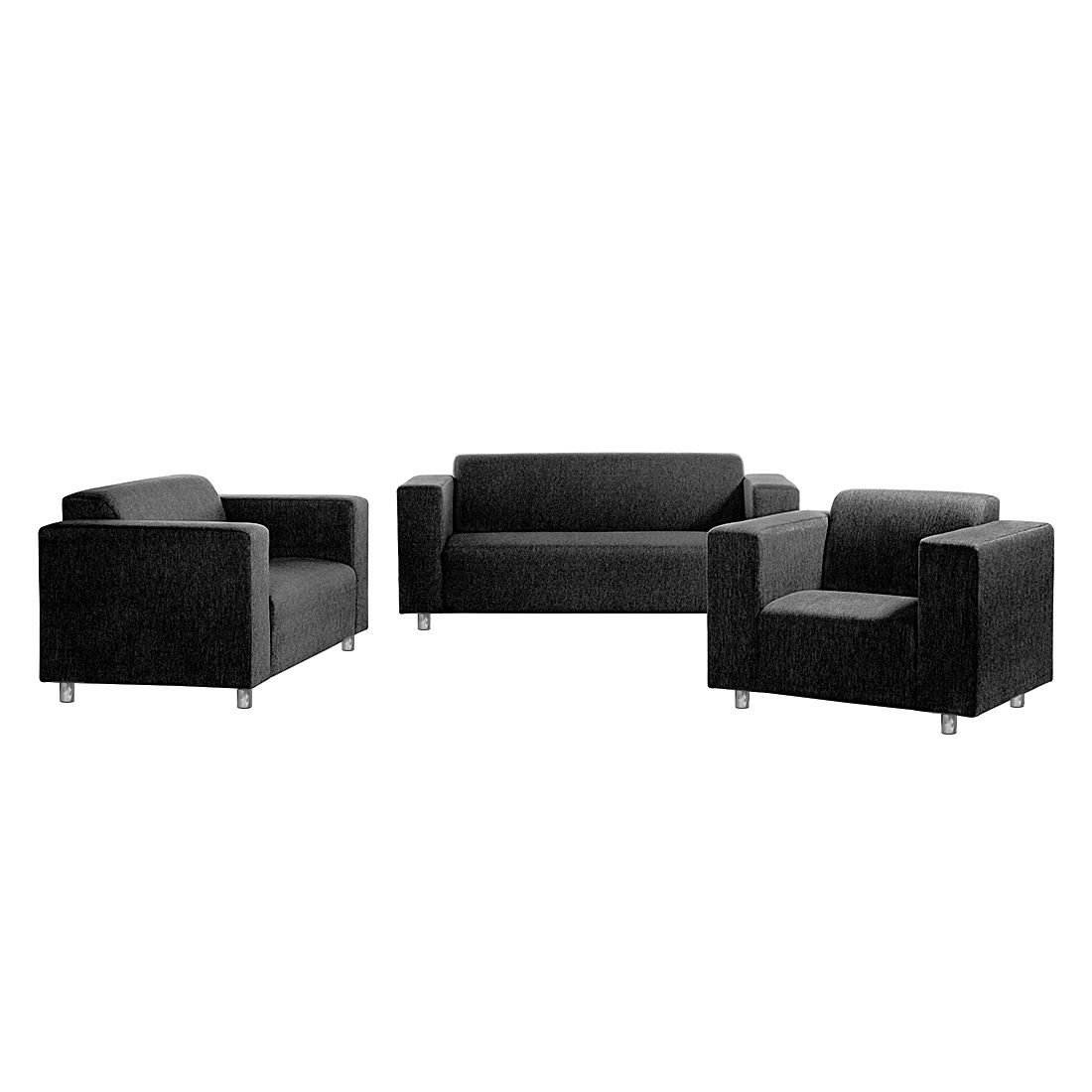 polstergarnitur oslo 3 2 1 strukturstoff anthrazit roomscape g nstig kaufen. Black Bedroom Furniture Sets. Home Design Ideas