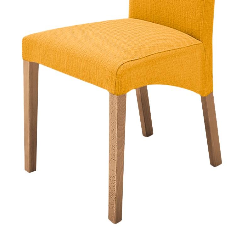 2x polsterstuhl foxa curry eiche esszimmerstuhl. Black Bedroom Furniture Sets. Home Design Ideas