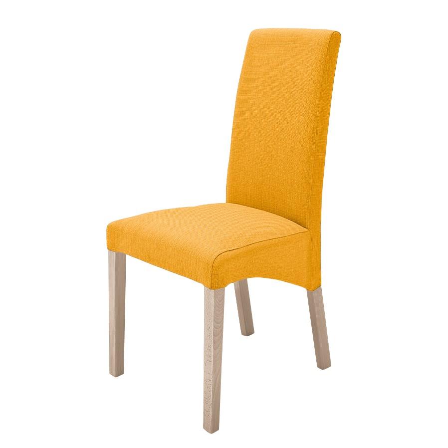 Gestoffeerde stoelen Demius (2-delige set) - geweven stof - Kerriegeel/Sonoma eikenhoutkleurig, room