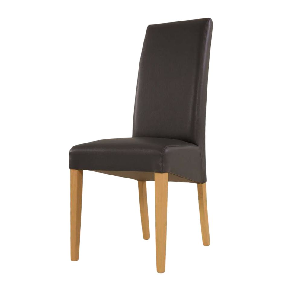 stuhl tamani kunstleder buche massivholz schwarz natur lackiert basilicana jetzt bestellen. Black Bedroom Furniture Sets. Home Design Ideas