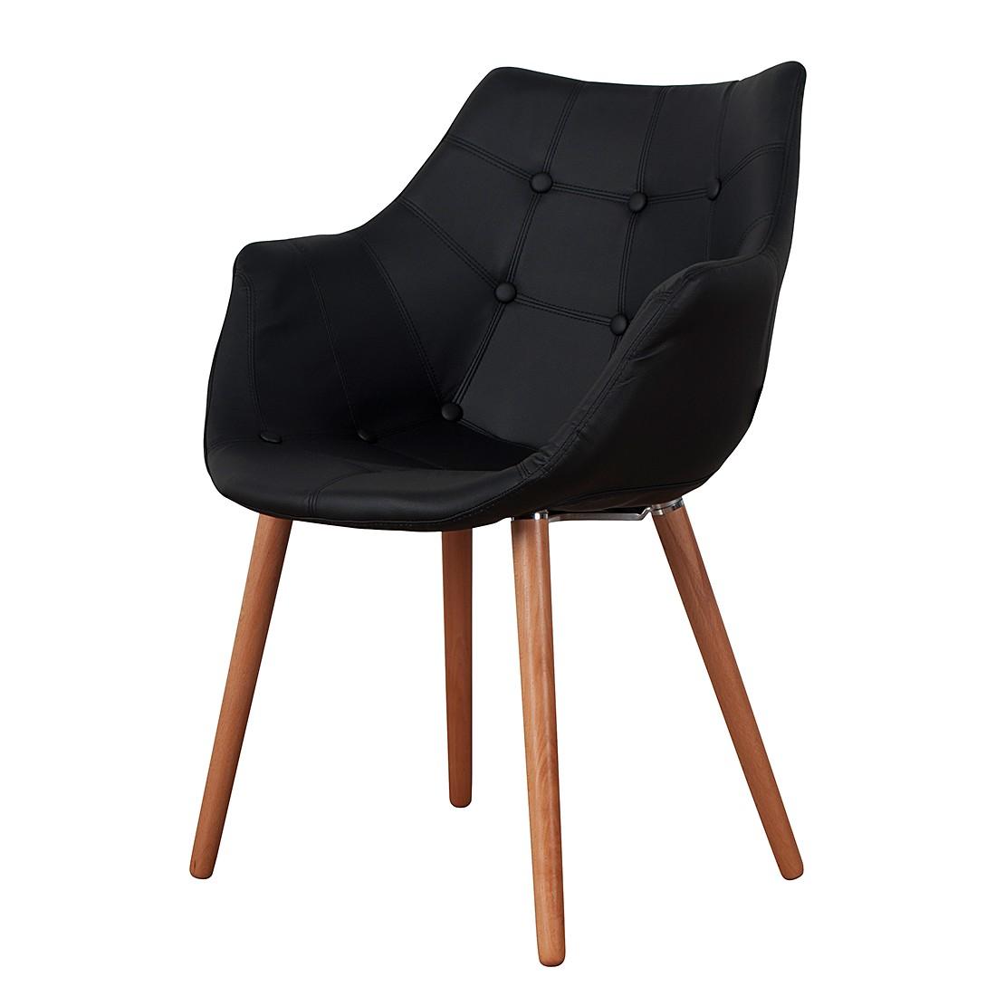Gestoffeerde stoel eleven similpelle zwart zuiver kopen for Stoel eleven