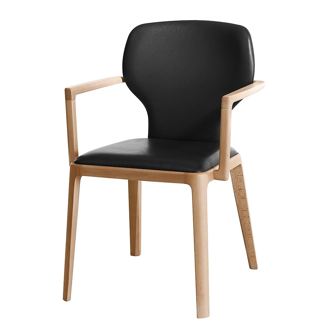 polsterstuhl mit armlehnen leder raum und m beldesign. Black Bedroom Furniture Sets. Home Design Ideas