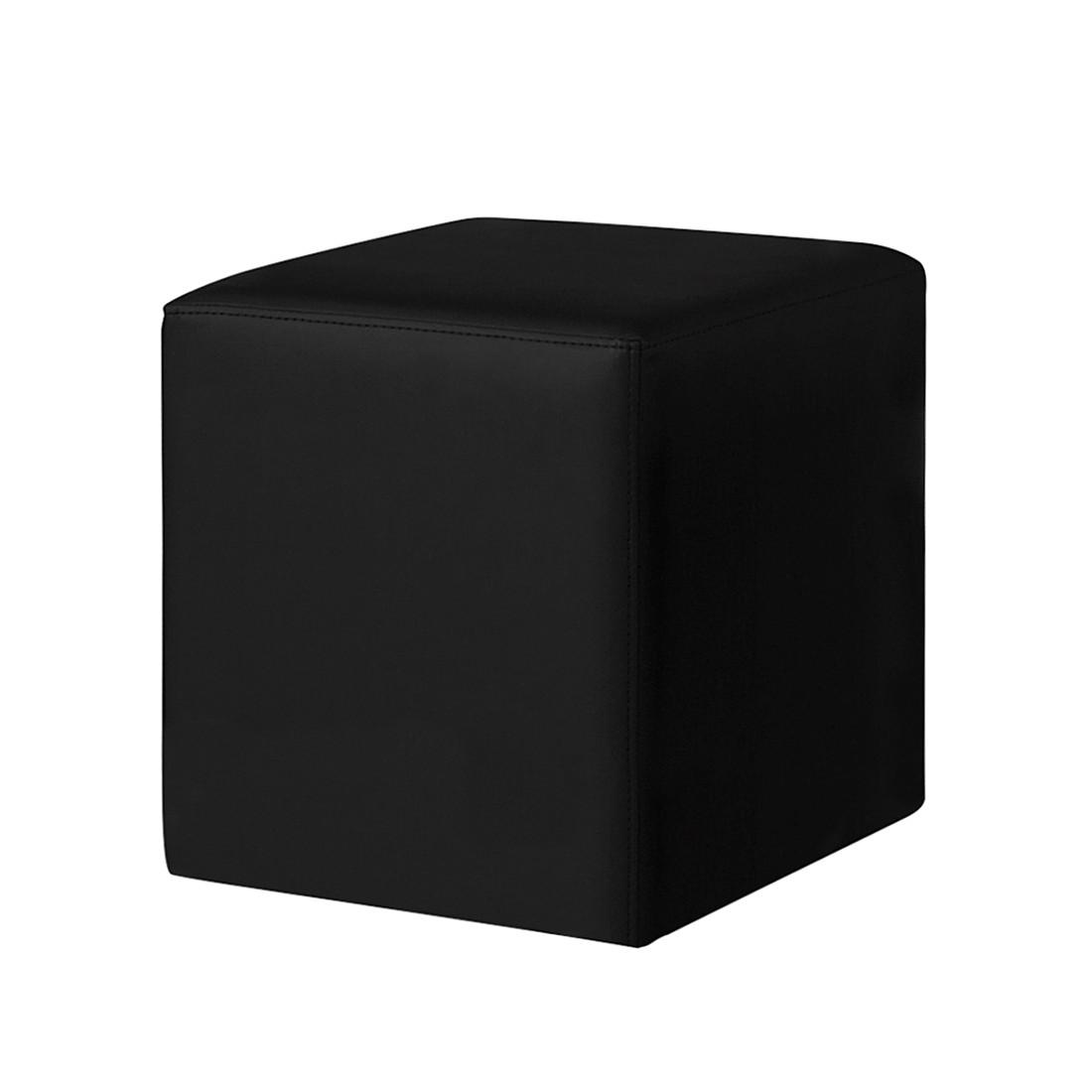 polsterw rfel cube kunstleder schwarz meise m bel g nstig kaufen. Black Bedroom Furniture Sets. Home Design Ideas