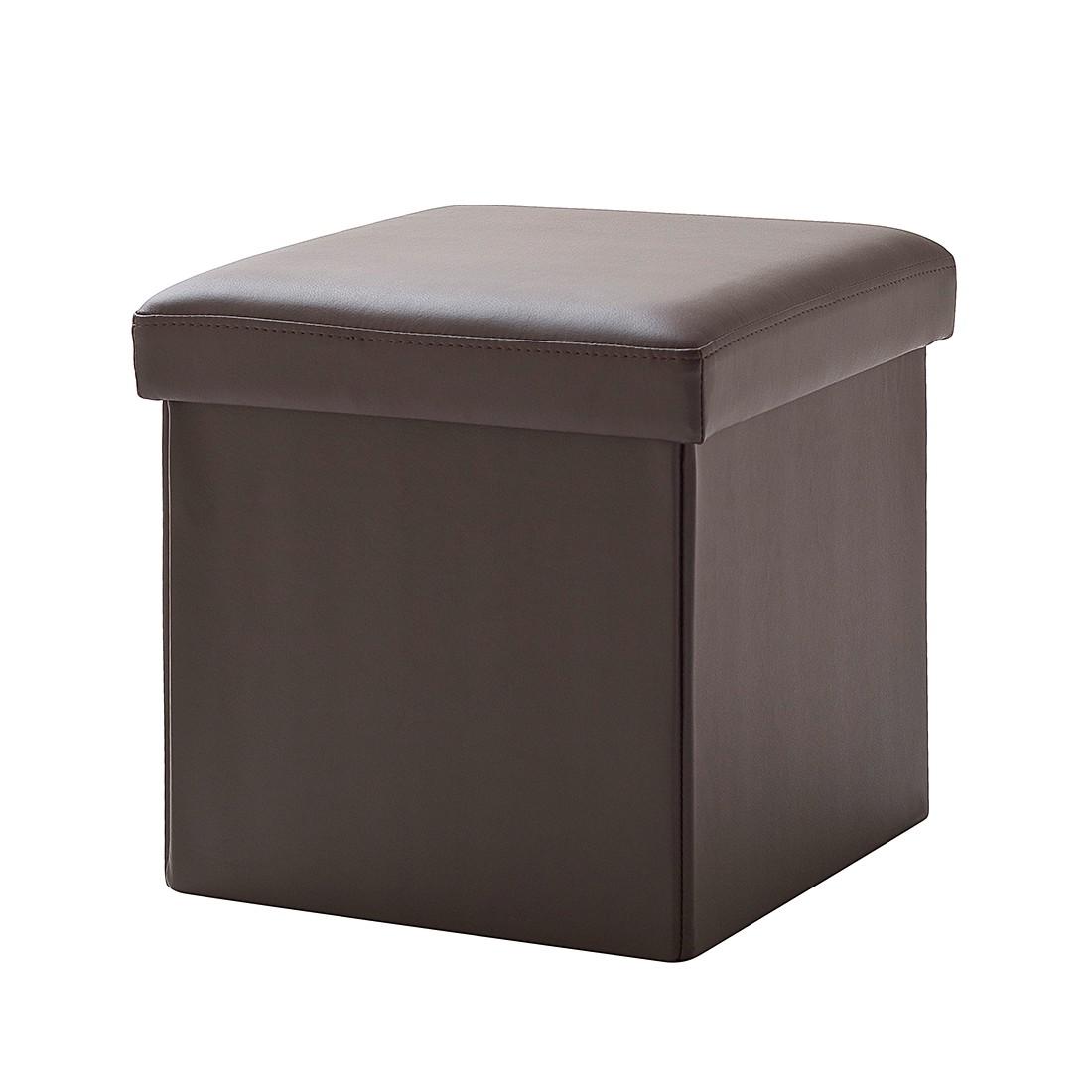 Polsterwürfel Cube (mit Deckel) – Kunstleder – Braun, meise.möbel online kaufen