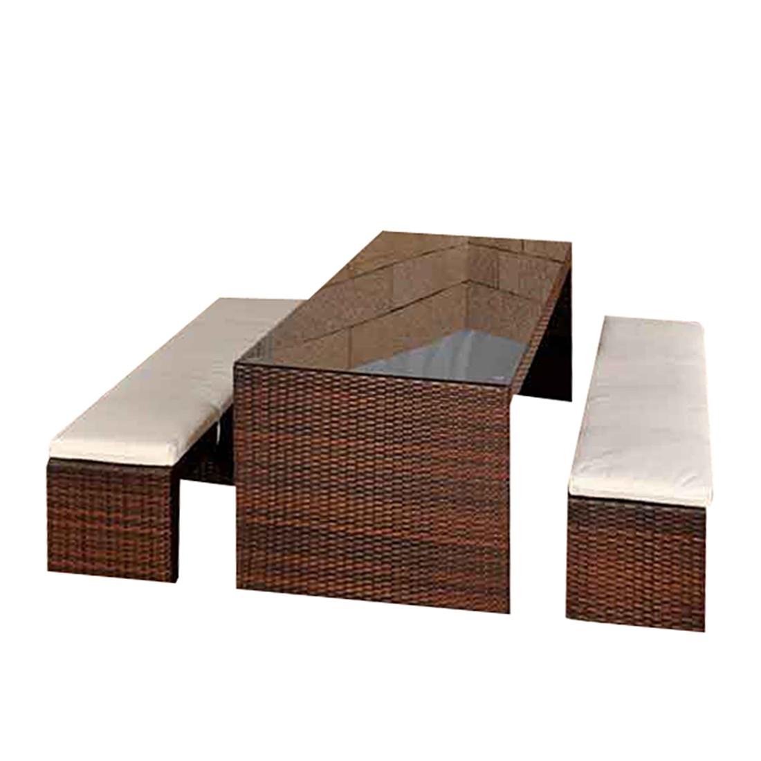 polyrattan gartenbar coruna braun meliert aluminium polyrattan. Black Bedroom Furniture Sets. Home Design Ideas
