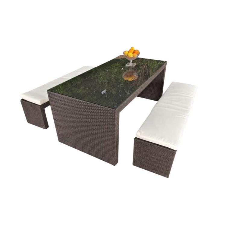 essgruppe coruna grau aluminium polyrattan clp. Black Bedroom Furniture Sets. Home Design Ideas