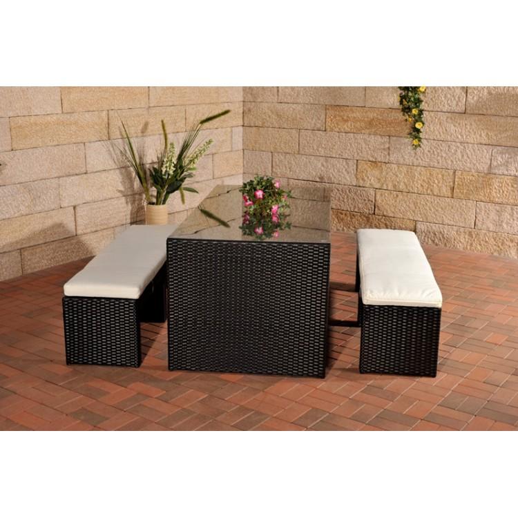 polyrattan gartenbar coruna schwarz aluminium. Black Bedroom Furniture Sets. Home Design Ideas