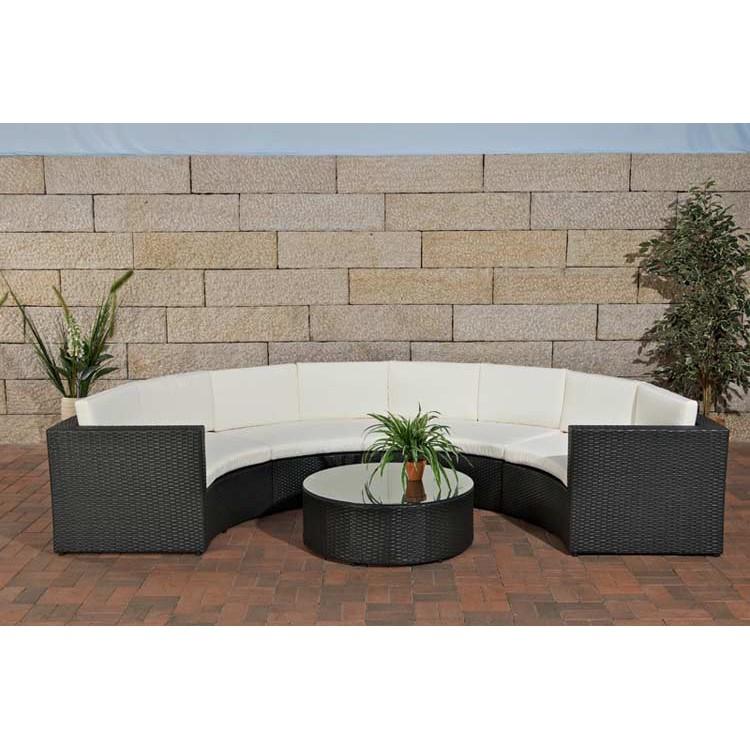 polyrattan gartengarnitur fano schwarz aluminium. Black Bedroom Furniture Sets. Home Design Ideas
