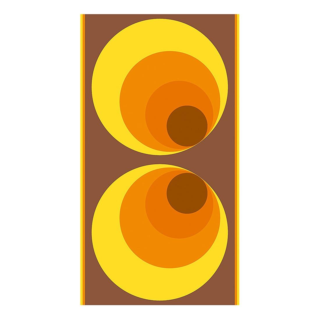 pop.up Panel 70er Retrodesign – gelb – orange – braun – selbstklebend – glatt, Livingwalls kaufen