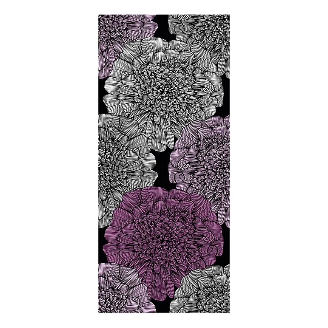 pop.up Panel Fine Flower`s – schwarz – grau – signalviolett – rosa – metallic – selbstklebend – glatt, Livingwalls günstig