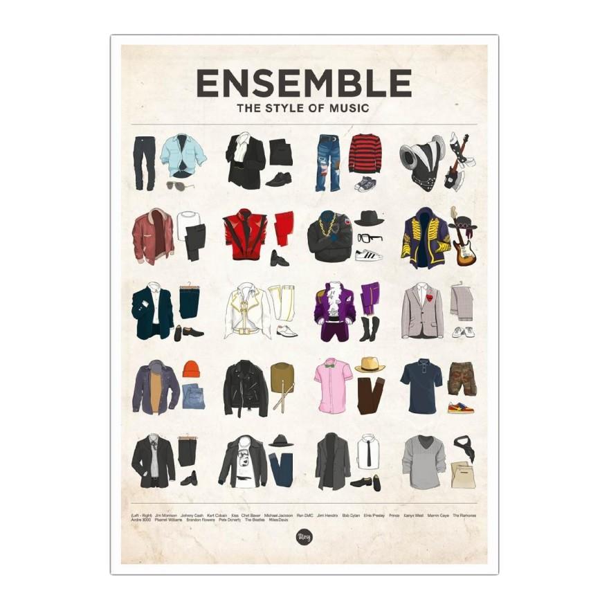 Poster Ensemble von Moxy Creative House – Größe: A5 (21 x 15 cm), Juniqe günstig