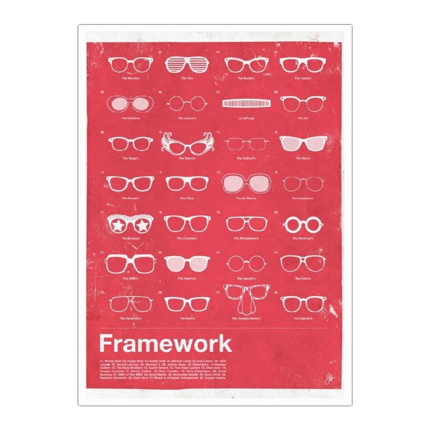 Poster Framework von Moxy Creative House – Größe: A3 (42 x 30 cm), Juniqe bestellen