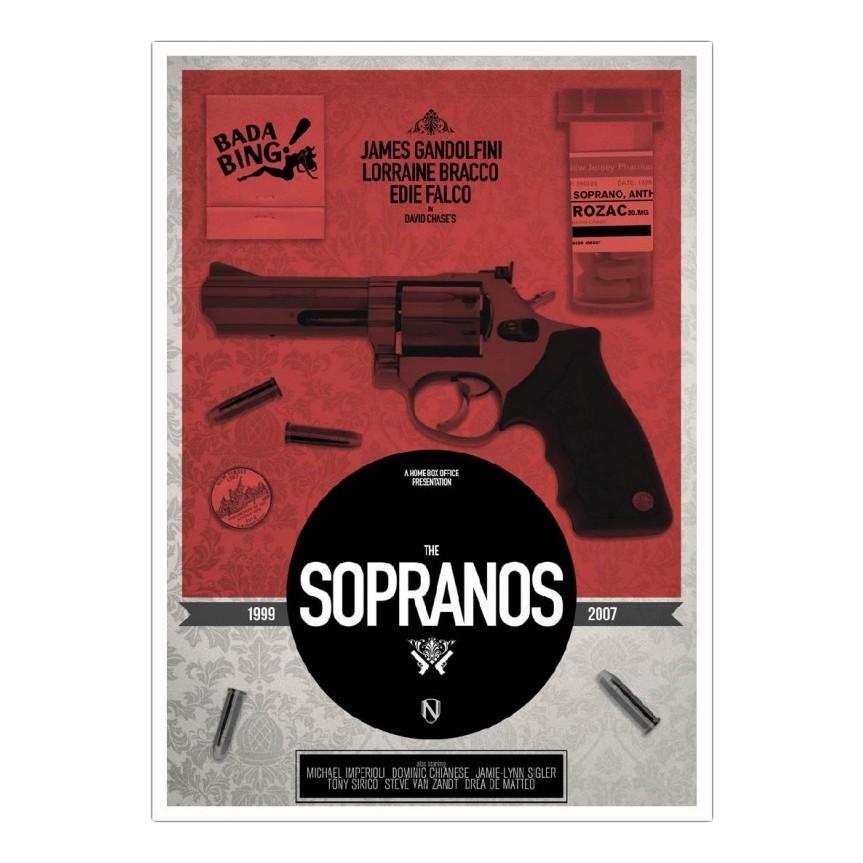 Poster Sopranos von Needle Design – Größe: A5 (21 x 15 cm), Juniqe online kaufen