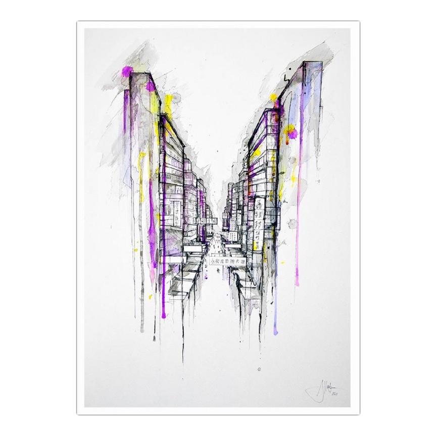 Poster This City Sleeps von Marc Allante – Größe: A5 (21 x 15 cm), Juniqe jetzt kaufen