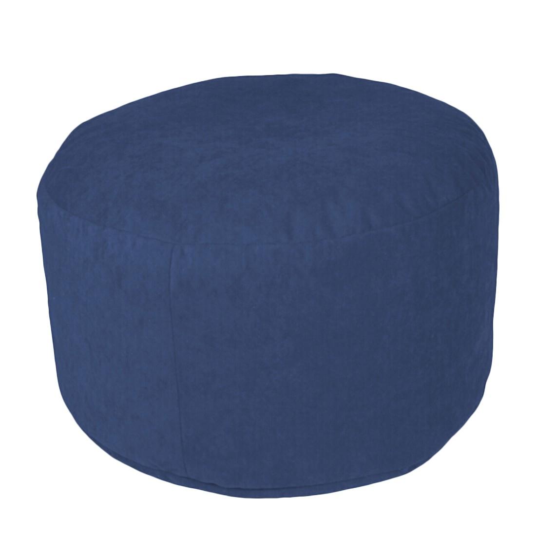 Pouf Microvelour Blau groß – 47 x 47 cm, KC-Handel günstig bestellen