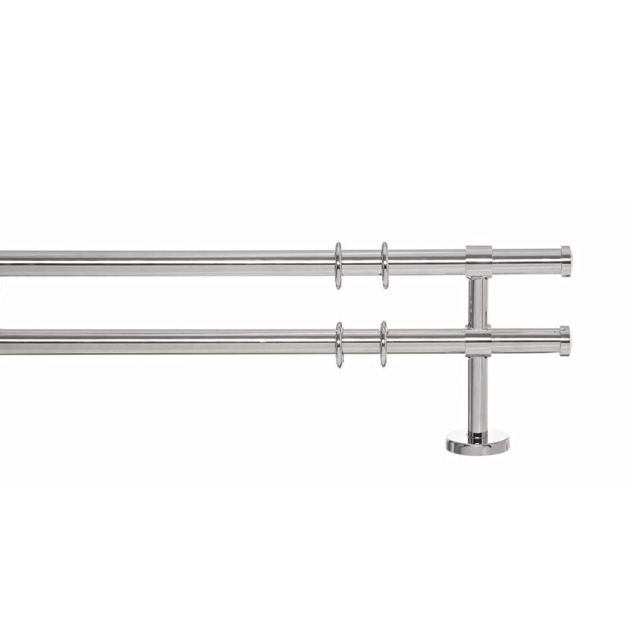 Gardinenstange Paolo (2-lfg) II – Nichel Glanz – 160 cm, indeko online kaufen