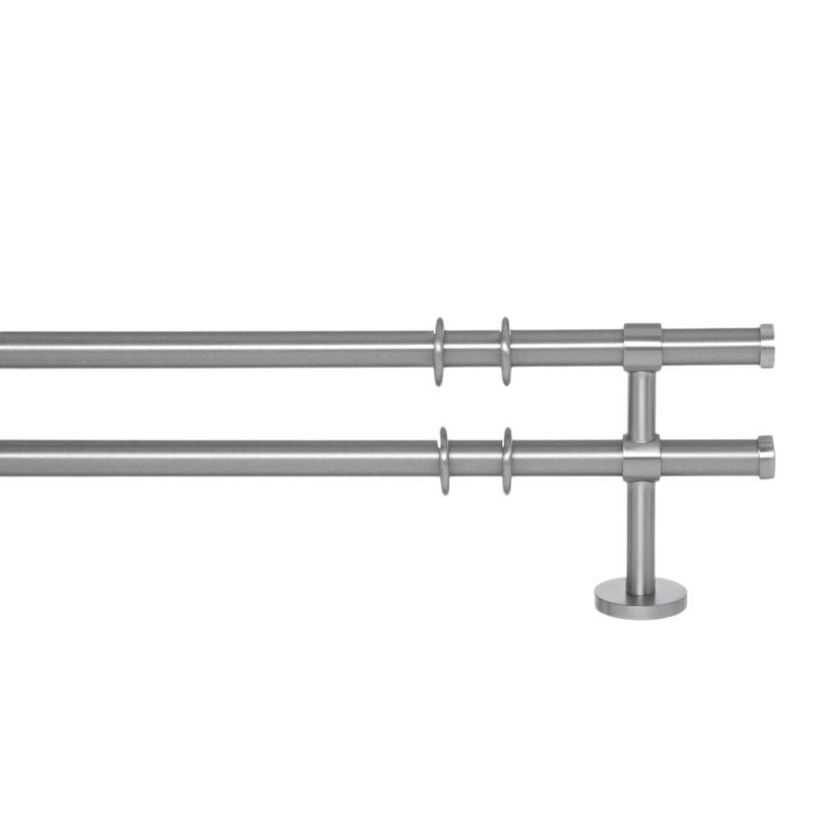 Gardinenstange Paolo (2-lfg) II – Nichel Matt – 200 cm, indeko günstig bestellen