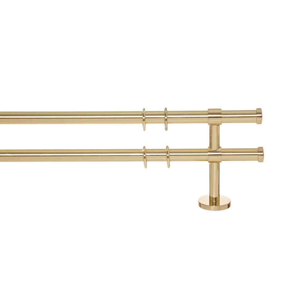 Gardinenstange Paolo (2-lfg) II – Messing Glanz – 240 cm, indeko günstig