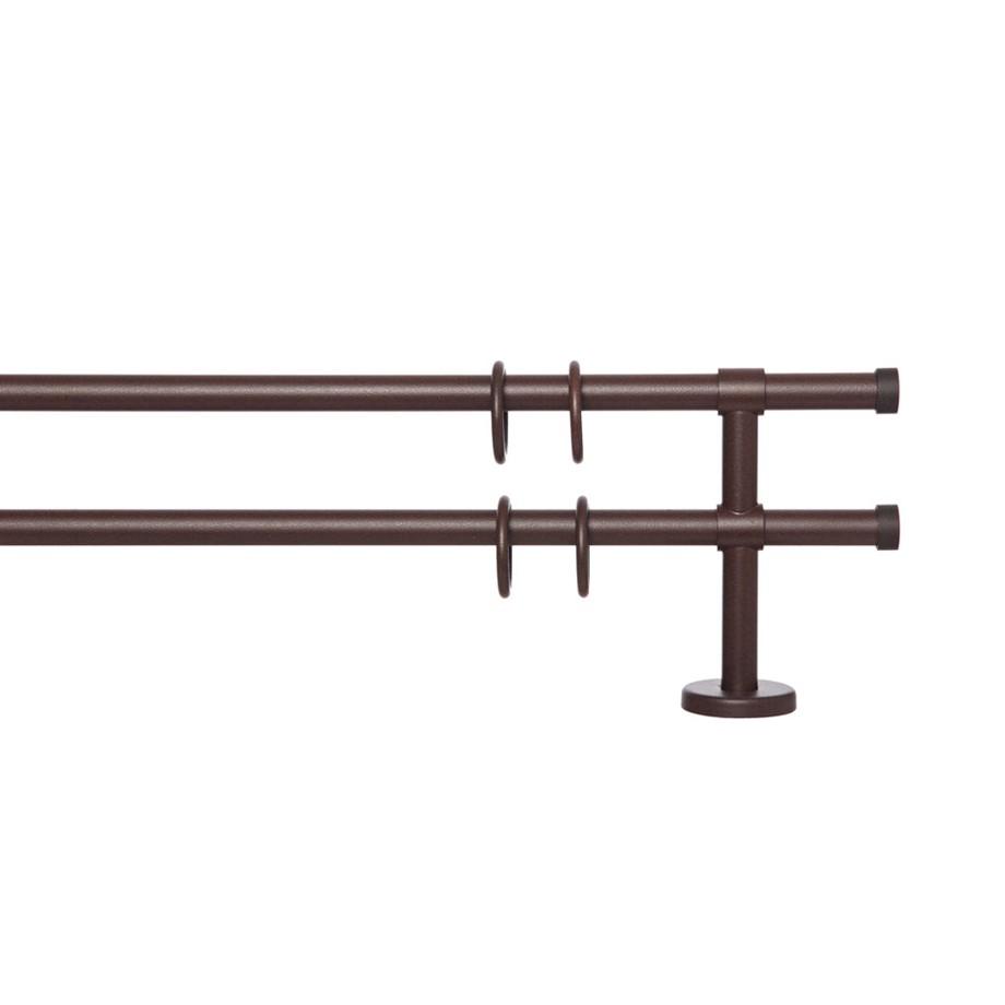 Gardinenstange Paolo (2-lfg) I – Braun – 200 cm, indeko online bestellen