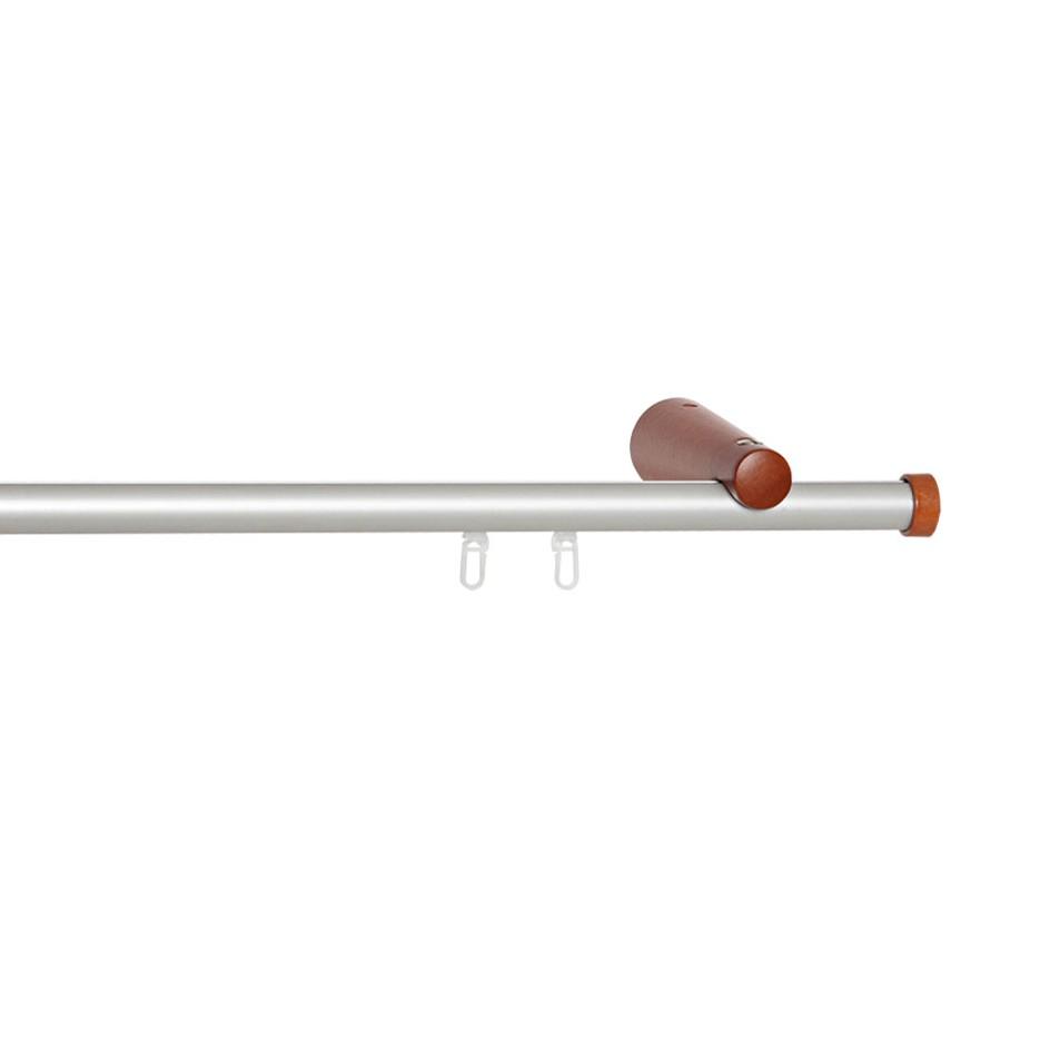 Gardinenstange Nino (1-lfg) I – Kirschbaum / Silber – 200 cm, indeko kaufen