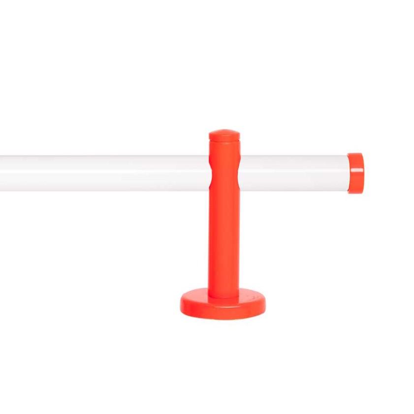 Gardinenstange Paolo (1-lfg) VI – Weiß / Orange – 160 cm, indeko günstig bestellen