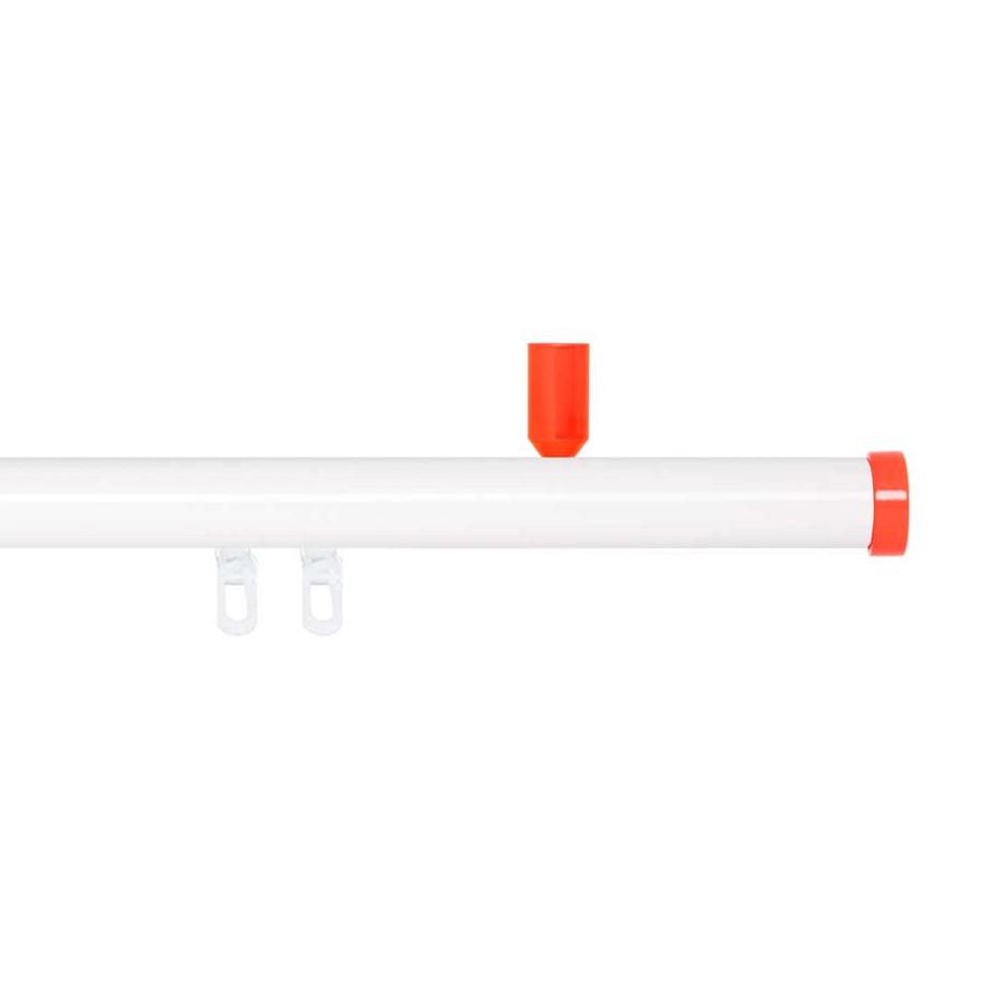 Gardinenstange Paolo (1-lfg) IV – Weiß / Orange – 240 cm, indeko günstig bestellen