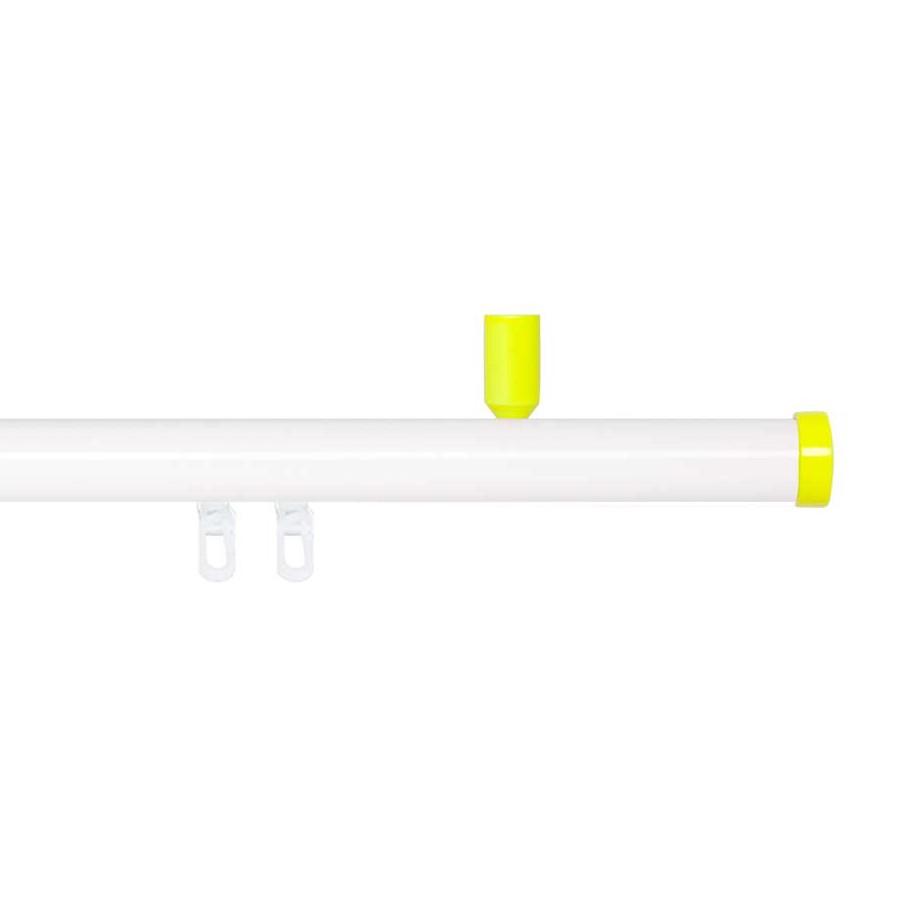 Gardinenstange Paolo (1-lfg) IV – Weiß / Gelb – 240 cm, indeko günstig