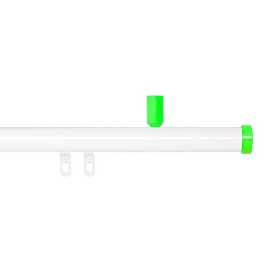 Gardinenstange Paolo (1-lfg) IV – Weiß / Grün – 120 cm, indeko günstig bestellen