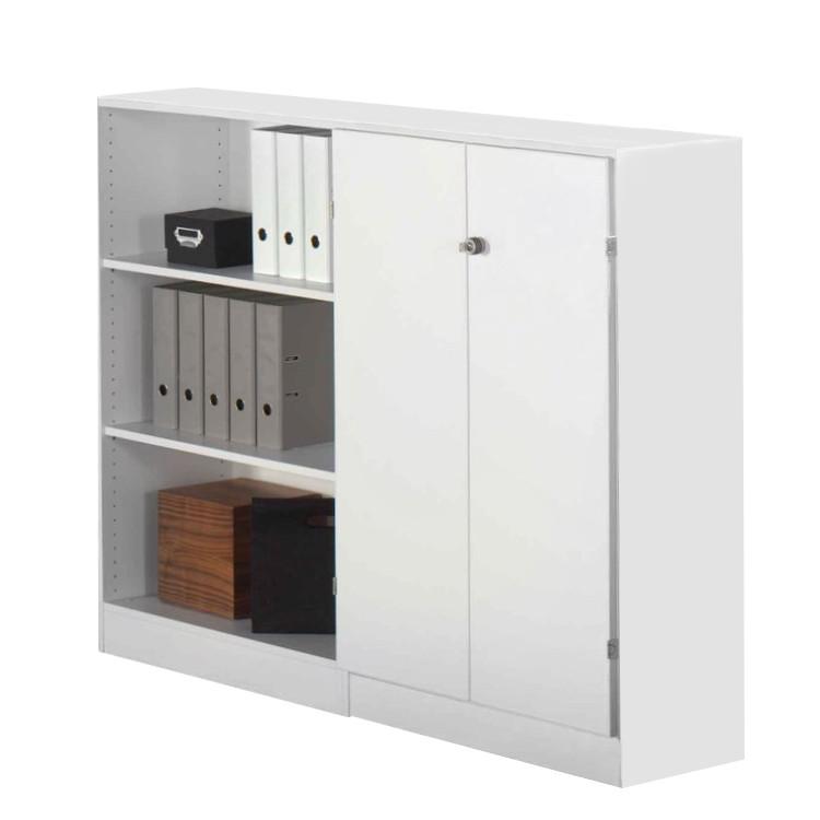 schrank 3 ordnerh hen prescott wei abschlie bar home24office g nstig bestellen. Black Bedroom Furniture Sets. Home Design Ideas