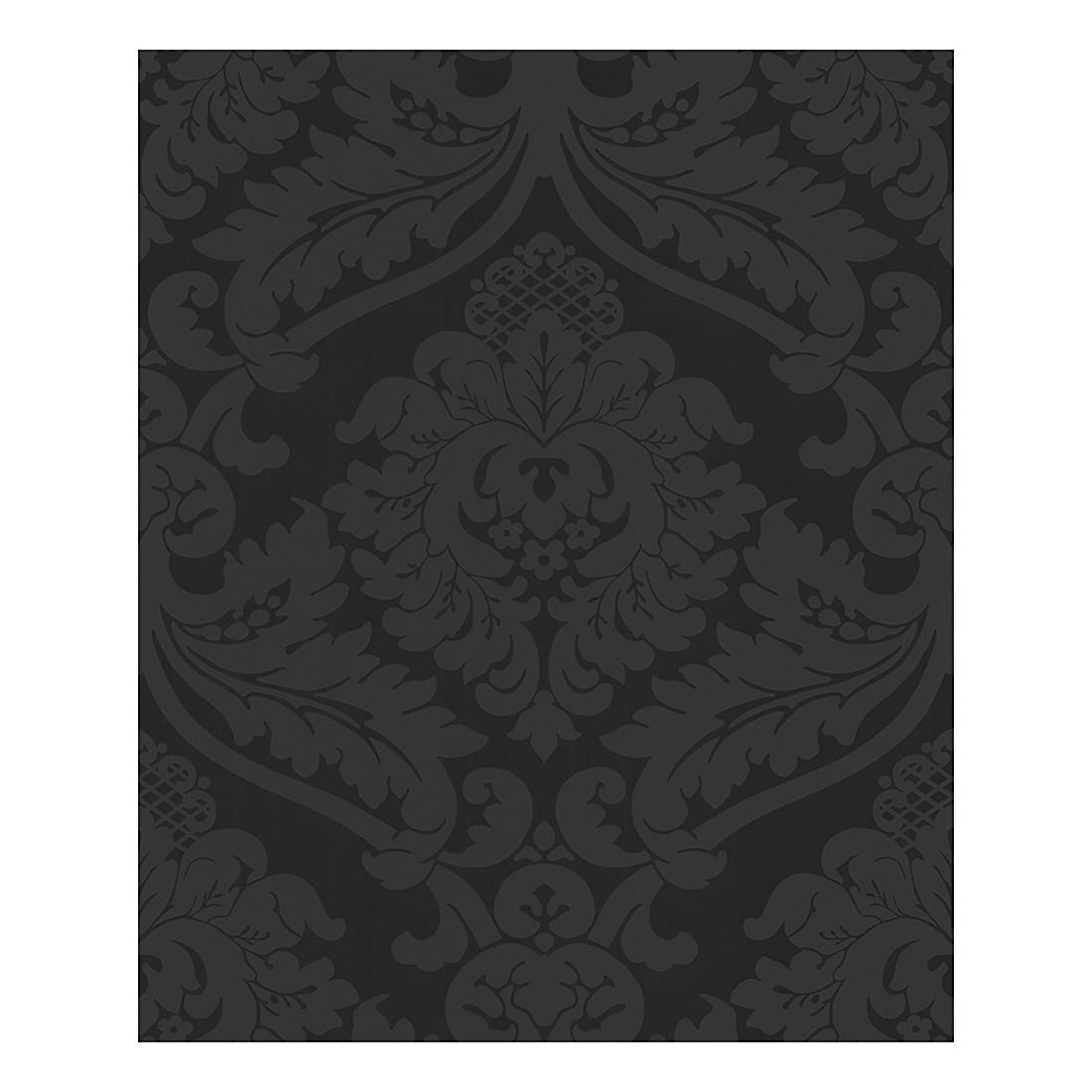 Profiltapete Modern Baroque – schwarz – strukturiert, Home24Deko jetzt bestellen