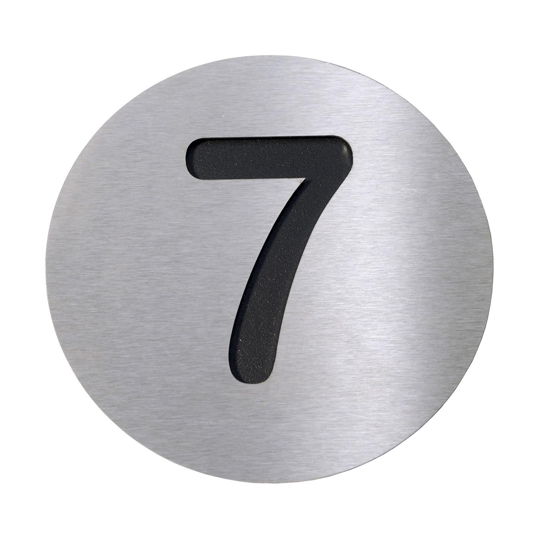 Radius Hausnummer 7 - Edelstahl schwarz, Radius