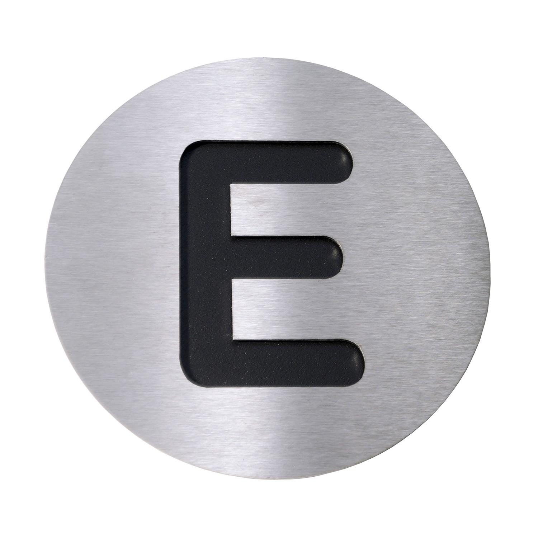 Radius Hausnummer E - Edelstahl schwarz, Radius