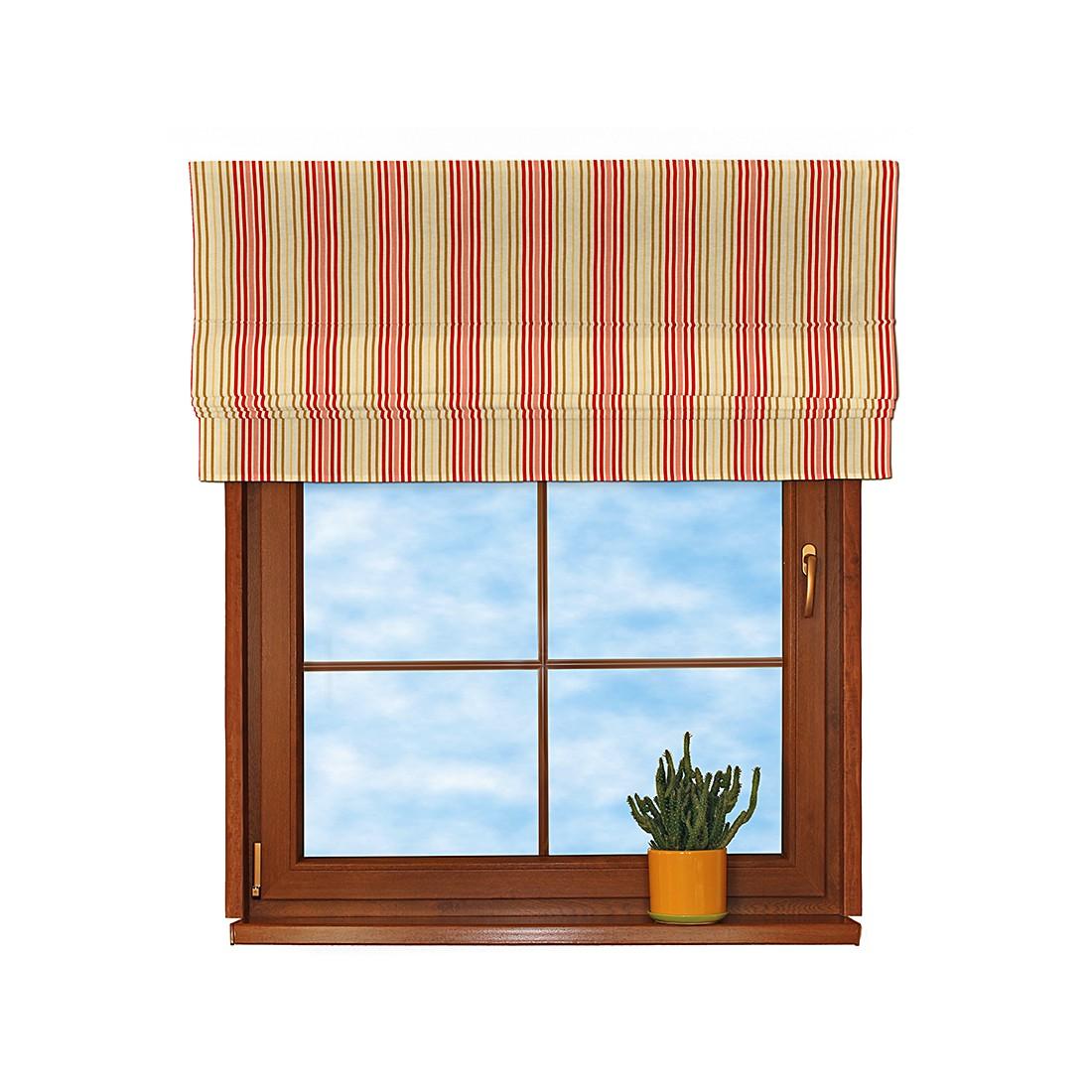 Raffrollo – Rote Streifen Beige – 160×170 cm, Dekoria online bestellen