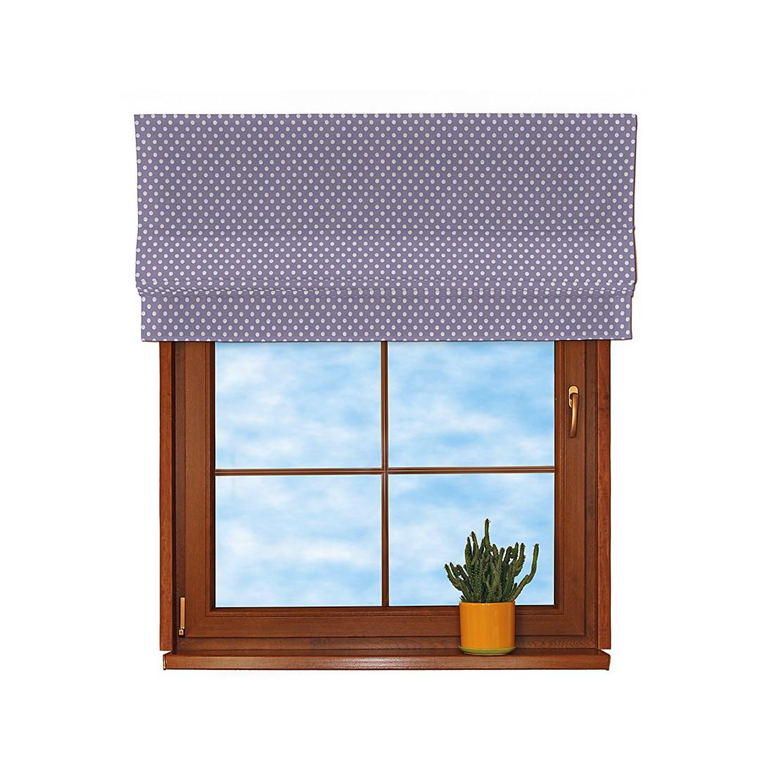 Raffrollo – Violett/Weiß getupft – 100×170 cm, Dekoria online kaufen