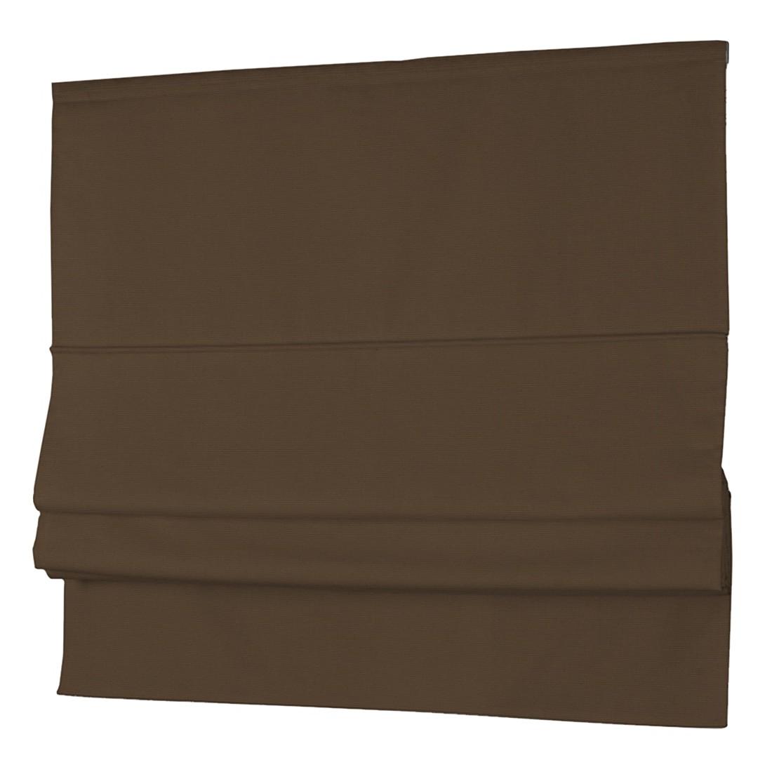 Raffrollo Cotton Panama – Braun / Kaffeebraun – 100 x 170 cm, Dekoria jetzt bestellen