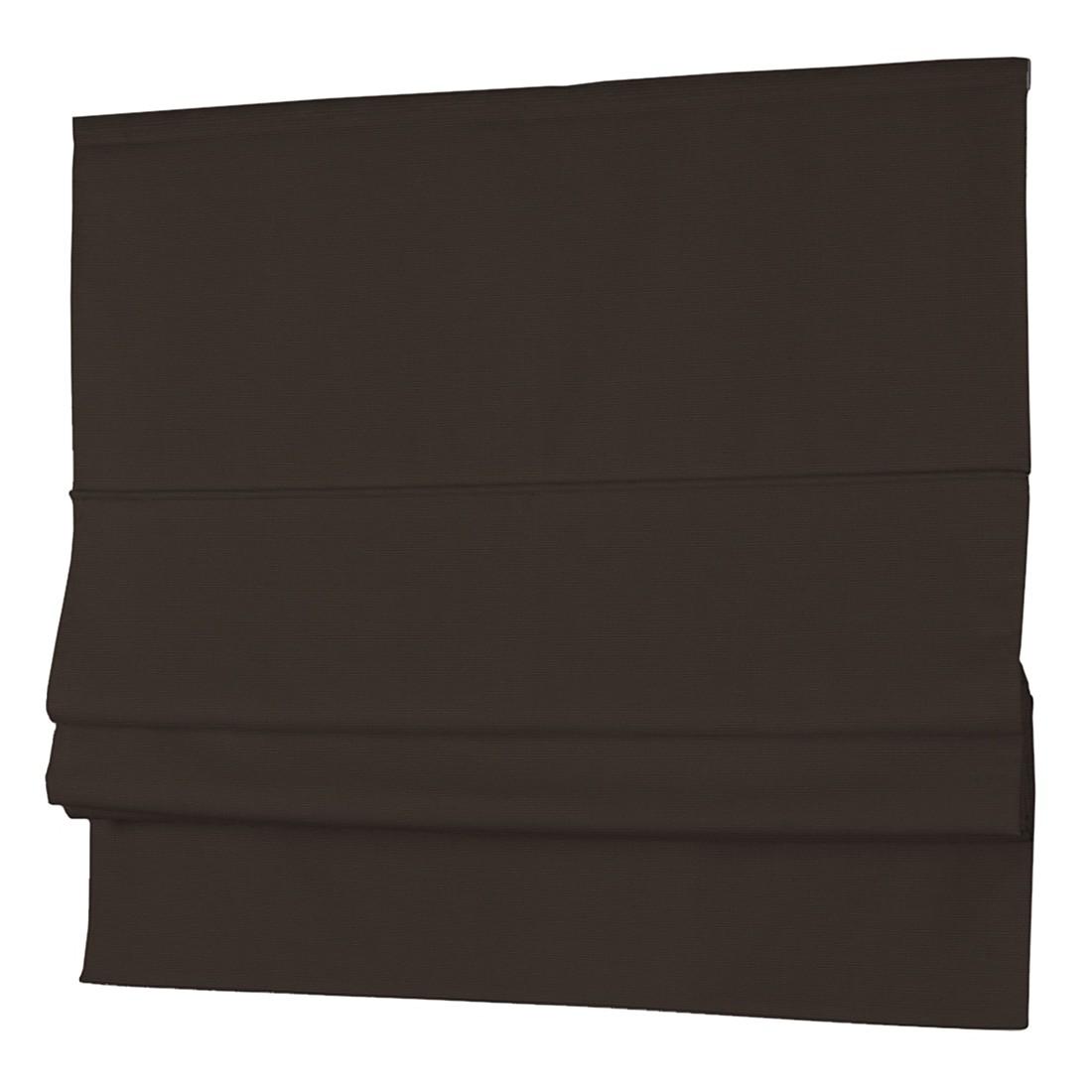 Raffrollo Cotton Panama – Dunkelbraun – 130 x 170 cm, Dekoria günstig bestellen