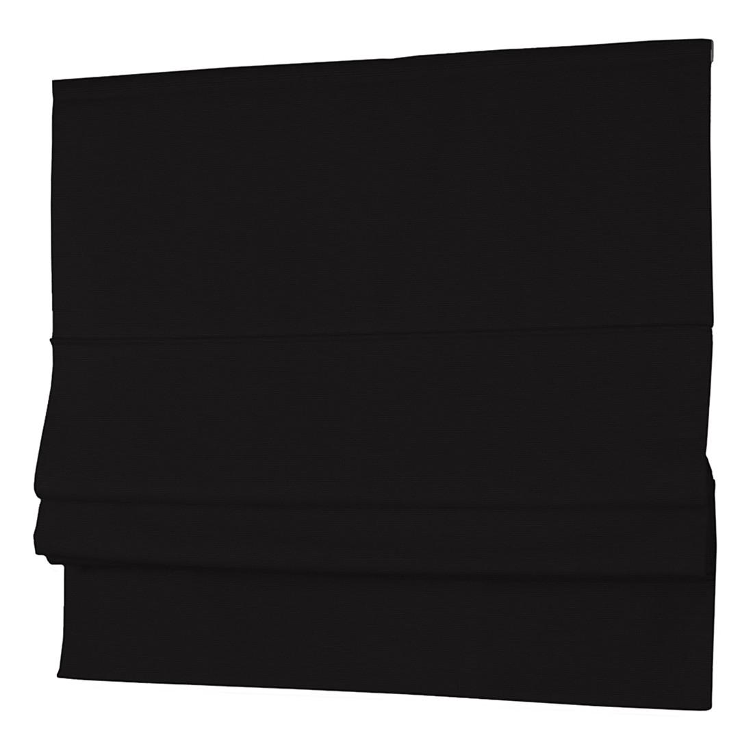Raffrollo Cotton Panama – Schwarz – 160 x 170 cm, Dekoria jetzt kaufen