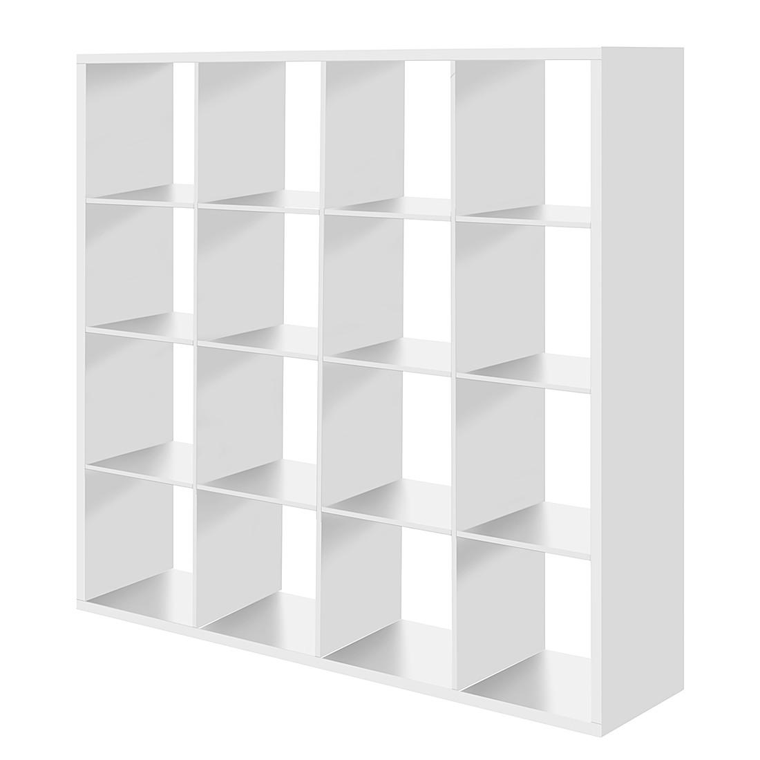 Raumteiler Romeo - Weiß - 16 Fächer