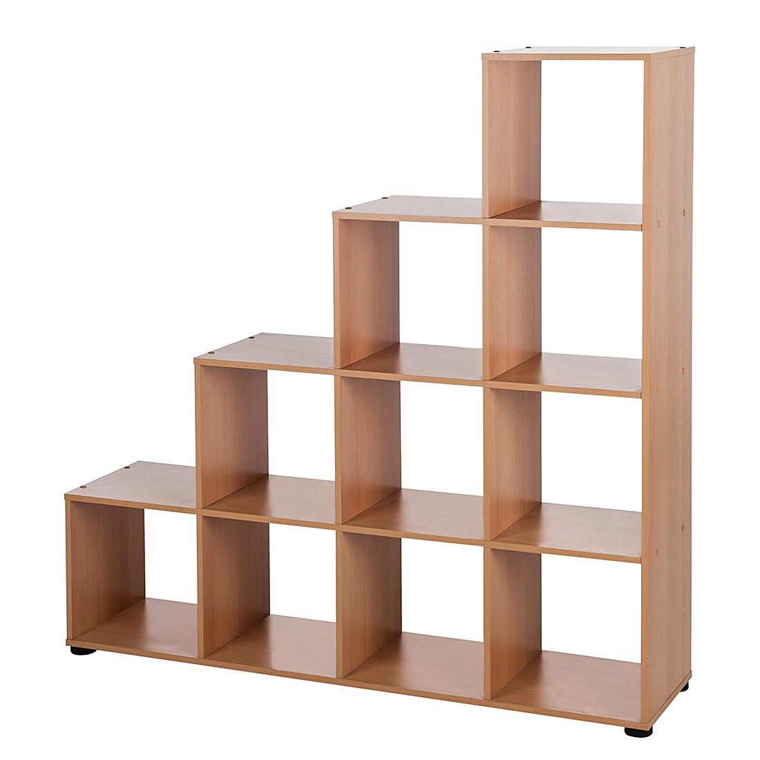 Raumteiler Zoria -  Buche Dekor - 10 Fächer (Raumteiler Zoria - 10 Fächer/4 Abstellflächen - Buche-Dekor)