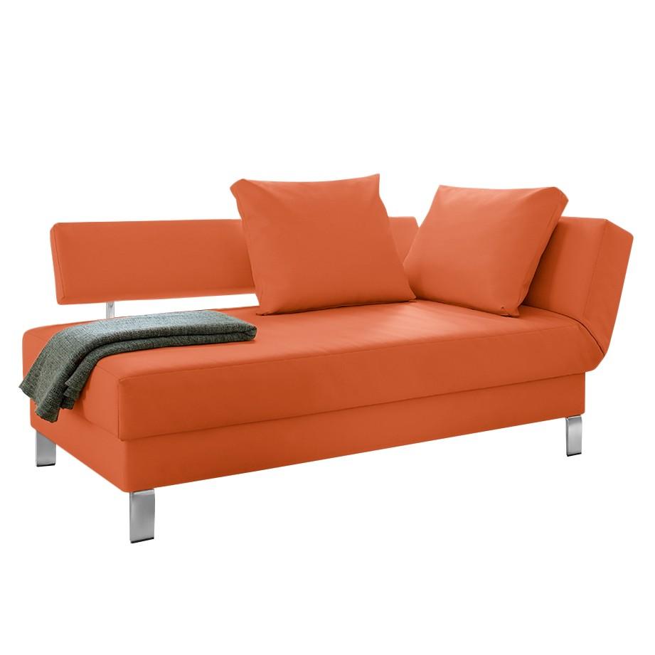 Recamiere Athmos (mit Schlaffunktion) - Kunstleder - Armlehne davorstehend rechts - Orange, Modoform