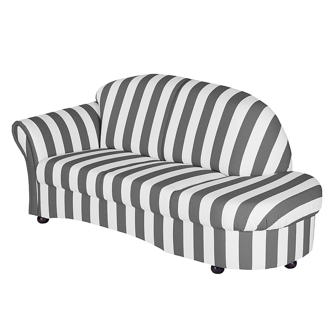 recamiere henry webstoff grau gestreift armlehne. Black Bedroom Furniture Sets. Home Design Ideas