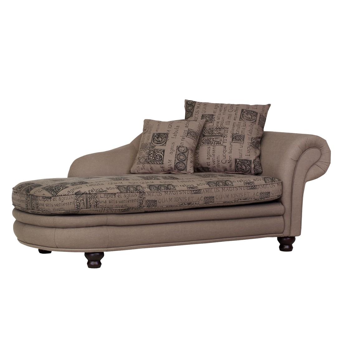 recamiere rokko webstoff braun armlehne rechts maison. Black Bedroom Furniture Sets. Home Design Ideas