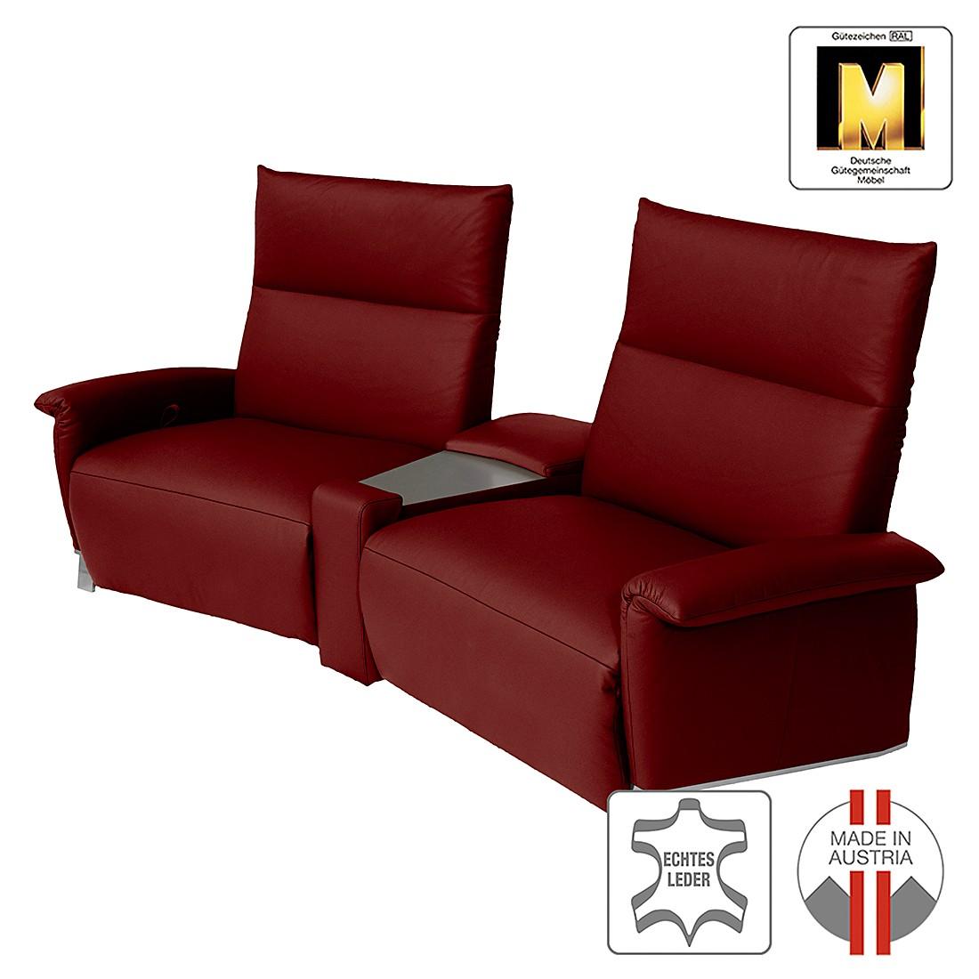 Reclinersofa Barcelona (2-Sitzer) – Echtleder – Rot, ADA premium günstig kaufen