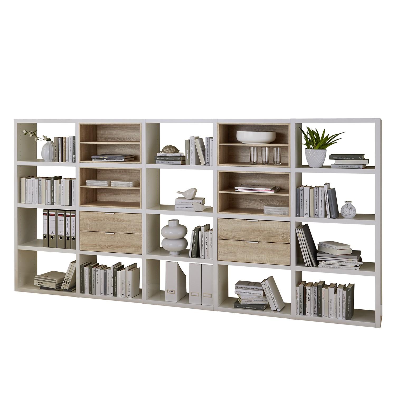 Regal Concept IV - Weiß / Eiche Dekor, loftscape