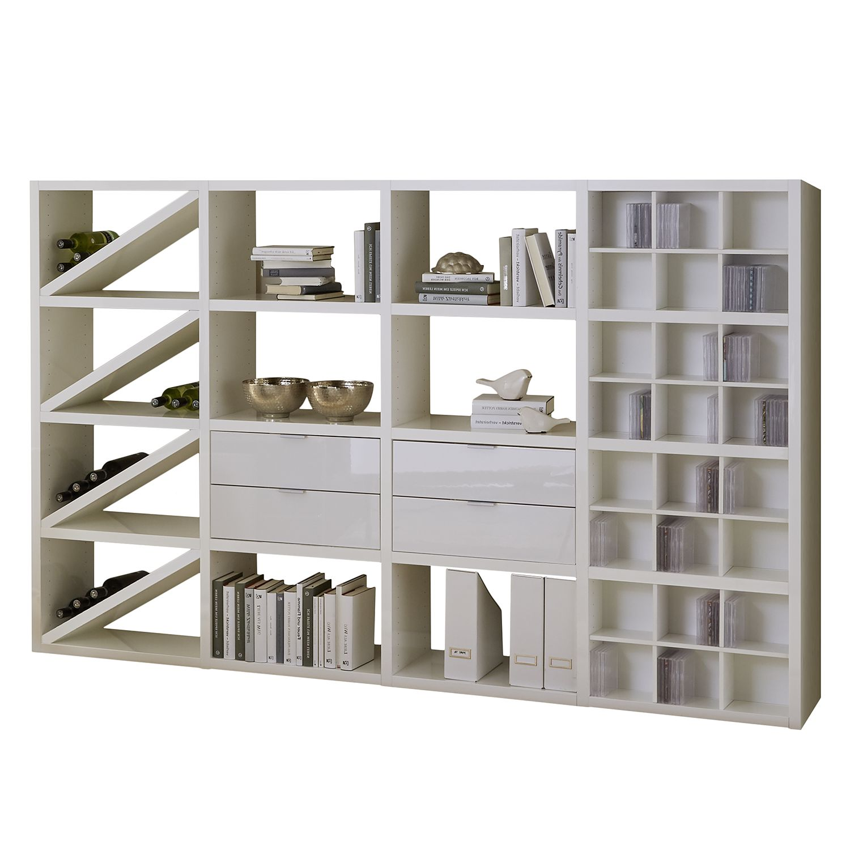 Regal Concept XII - Hochglanz Weiß, loftscape