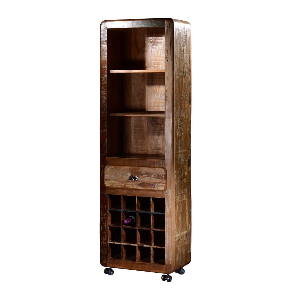 Regal Macaza – Recyclingholz – Braun-Bunt, Möbel Exclusive online kaufen