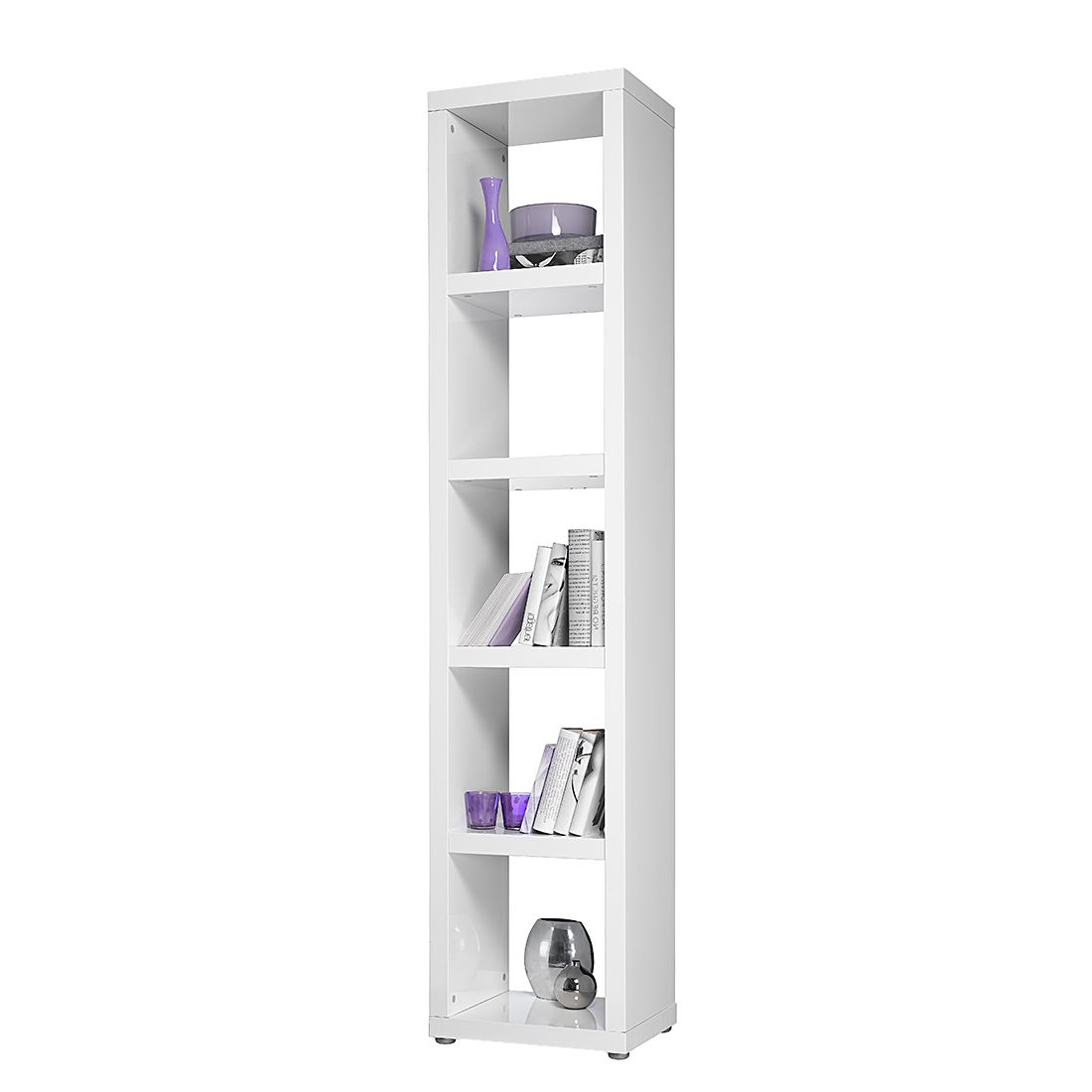 regal madina 1x5 hochglanz wei ebay. Black Bedroom Furniture Sets. Home Design Ideas